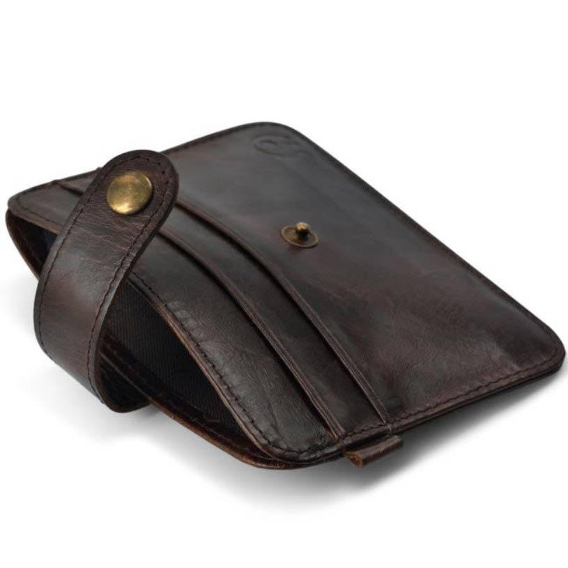 Brun läder plånbok