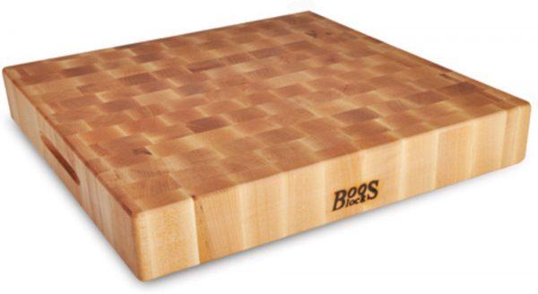 BoosBlocks Skärbräda Butcherblock 46cm x 46 cm x 7,5 cm