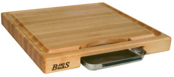 BoosBlocks Skärbräda med ränna 46cm x 46 cm x 6cm