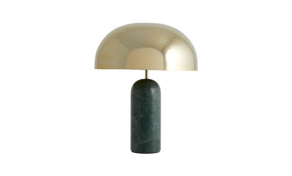 ATLAS Bordslampa Marmor Grön