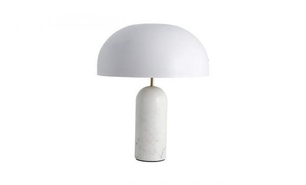 ATLAS Bordslampa Marmor Vit