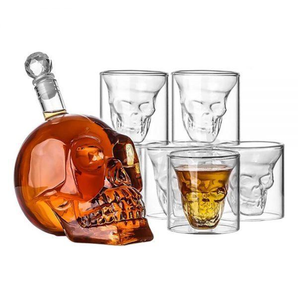 Dödskallekaraff med Glas