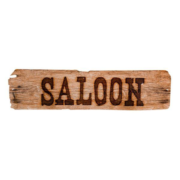 Skylt Saloon - 13 x 16 cm