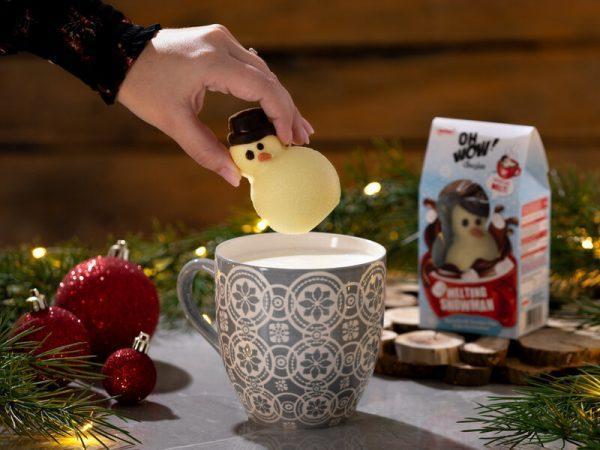 Snögubbe för Varm Choklad